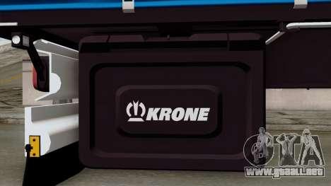 Trailer Krone Profiliner v1 para la visión correcta GTA San Andreas