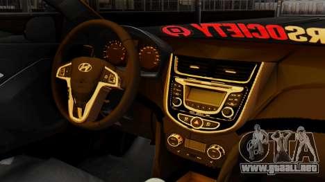 Hyundai Accent Blue para la visión correcta GTA San Andreas