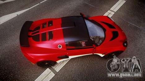 Lotus Exige 240 CUP 2006 Type 49 para GTA 4 visión correcta