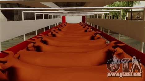 Trailer Cows para GTA San Andreas vista hacia atrás