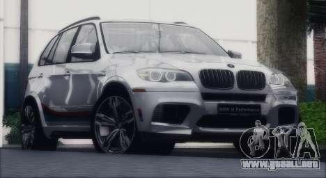 BMW X5M MPerformance Packet para la visión correcta GTA San Andreas