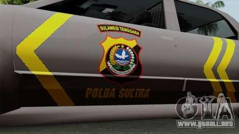 Indonesian Police Type 1 para la visión correcta GTA San Andreas