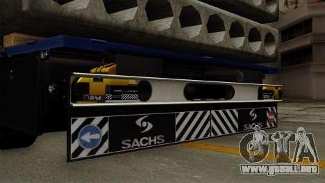 Flatbed3 Yellow para la visión correcta GTA San Andreas