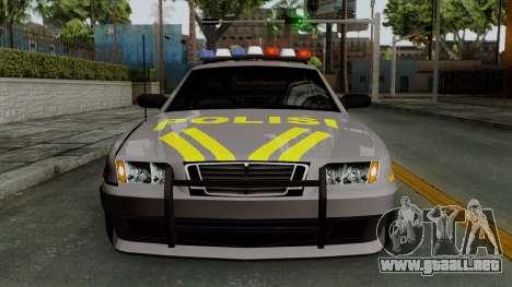 Indonesian Police Type 1 para vista lateral GTA San Andreas
