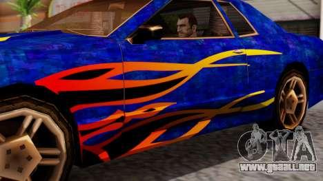 Elegy First Vinyl MQ para GTA San Andreas vista posterior izquierda