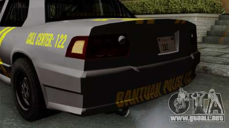 Indonesian Police Type 1 para vista inferior GTA San Andreas
