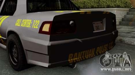 Indonesian Police Type 1 para vista inferior GTA San Andreas