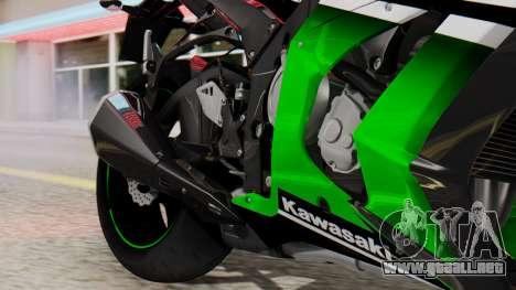 Kawasaki ZX-10R 2015 30th Anniversary Edition para GTA San Andreas vista hacia atrás