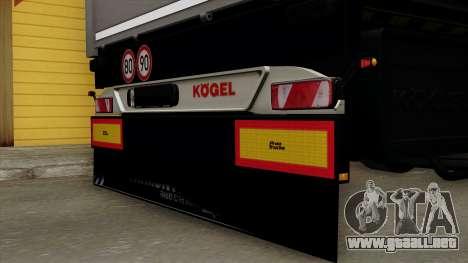 Trailer Kogel para GTA San Andreas vista hacia atrás