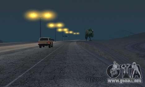 Las luces de San Fierro, Las Venturas para GTA San Andreas sexta pantalla