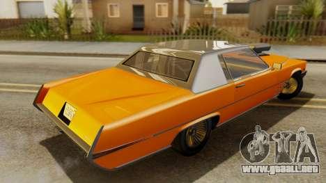 GTA 5 Albany Manana para GTA San Andreas vista posterior izquierda