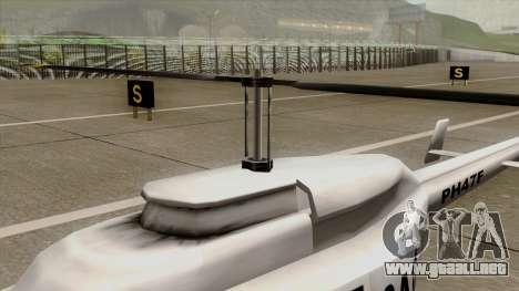 Rain Dance Maverick para la visión correcta GTA San Andreas
