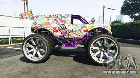 GTA 5 Vapid The Liberator Sticker Bomb v2.0f vista lateral izquierda