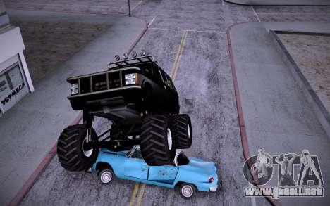 Huntley Monster v3.0 para GTA San Andreas vista posterior izquierda