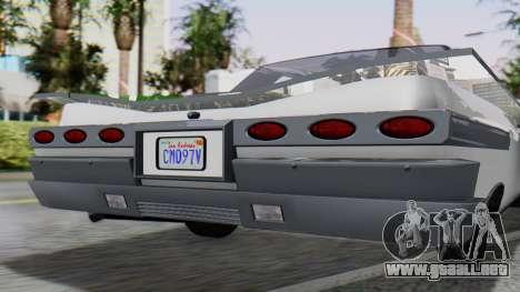 GTA 5 Declasse Voodoo para GTA San Andreas vista hacia atrás