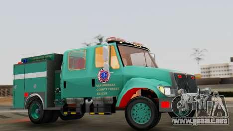 SACFR International Type 3 Rescue Engine para la visión correcta GTA San Andreas
