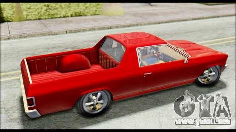 GTA 5 Cheval Picador para GTA San Andreas vista posterior izquierda