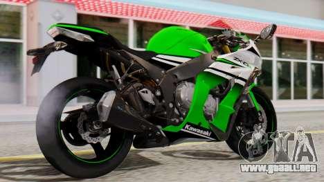 Kawasaki ZX-10R 2015 30th Anniversary Edition para GTA San Andreas left