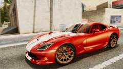 Dodge Viper SRT GTS 2013 IVF (MQ PJ) HQ Dirt para GTA San Andreas