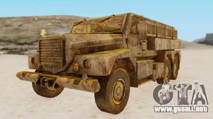MRAP Cougar from CoD Black Ops 2 para GTA San Andreas
