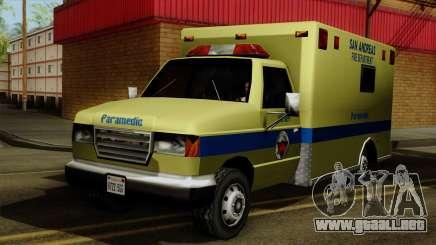 SAFD SAX Rescue Ambulance para GTA San Andreas