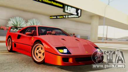 Ferrari F40 1987 with Up Lights para GTA San Andreas