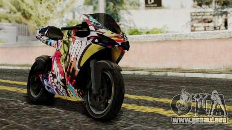 Bati Motorcycle JDM Edition para visión interna GTA San Andreas