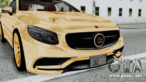 Brabus 850 Gold para visión interna GTA San Andreas
