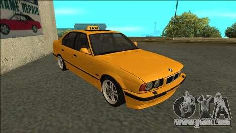 BMW M5 E34 Taxi para GTA San Andreas left