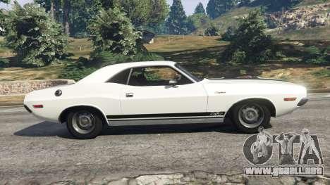 GTA 5 Dodge Challenger RT 440 1970 v1.0 vista lateral izquierda