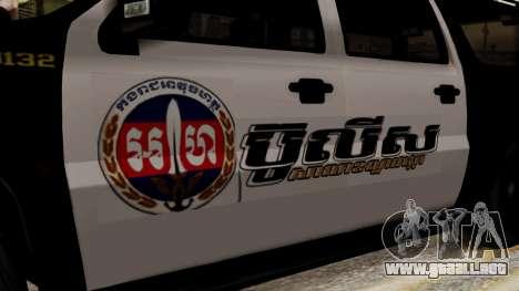 Sheriff Granger Police GTA 5 para GTA San Andreas vista posterior izquierda