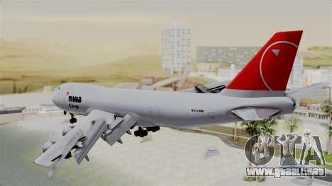 Boeing 747 Northwest Cargo para GTA San Andreas left