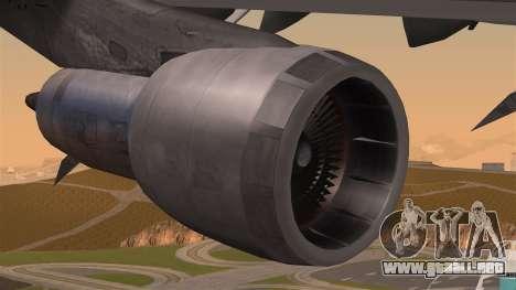 Boeing 747 Air France para la visión correcta GTA San Andreas