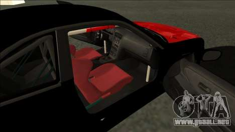 Nissan Skyline R33 Monster Energy para GTA San Andreas vista posterior izquierda