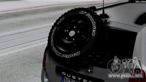 Dacia Duster Terranger 6x6 para GTA San Andreas vista hacia atrás