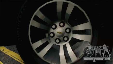 Chevrolet Suburban FSB para GTA San Andreas vista hacia atrás
