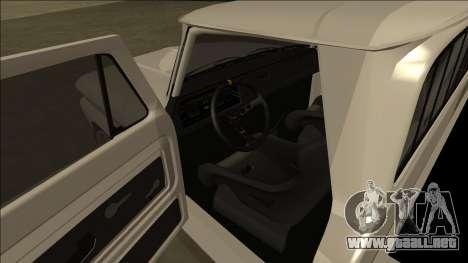 Chevrolet C10 Drift para GTA San Andreas vista hacia atrás