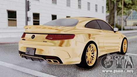 Brabus 850 Gold para GTA San Andreas left