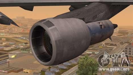Boeing 747 Braniff para la visión correcta GTA San Andreas