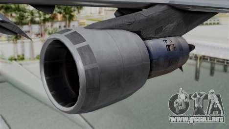 Boeing 747 Northwest Cargo para la visión correcta GTA San Andreas