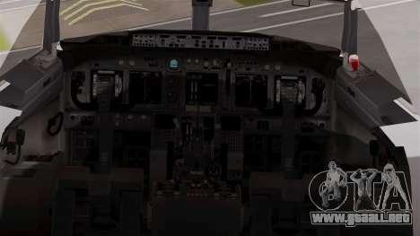 Boeing 737-800 Air India Express para GTA San Andreas vista hacia atrás