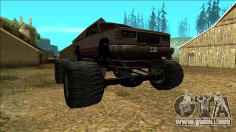 New Yosemite v2 Monster para GTA San Andreas vista hacia atrás