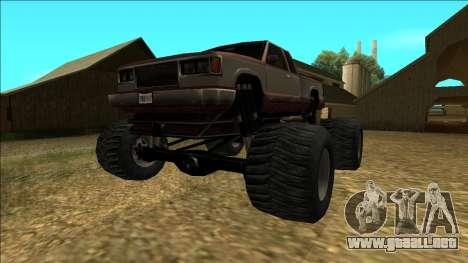New Yosemite v2 Monster para GTA San Andreas vista posterior izquierda