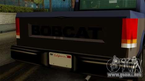 Bobcat from Vice City Stories IVF para la visión correcta GTA San Andreas