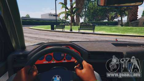 GTA 5 1991 BMW E30 Drift Edition v1.1 vista lateral trasera derecha