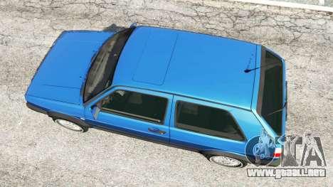GTA 5 Volkswagen Golf Mk2 GTI vista trasera