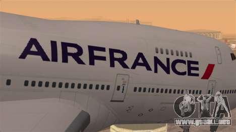 Boeing 747 Air France para GTA San Andreas vista hacia atrás