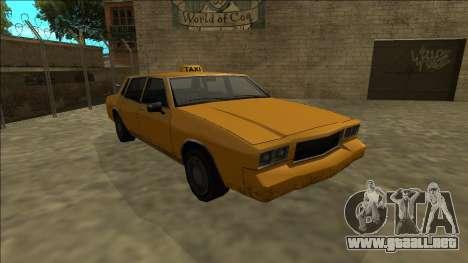 Tahoma Taxi para GTA San Andreas vista hacia atrás