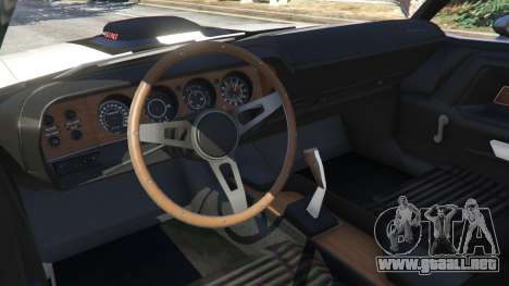 GTA 5 Dodge Challenger RT 440 1970 v1.0 vista lateral trasera derecha