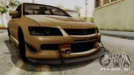 Mitsubishi Lancer Evolution IX MR 2006 para la vista superior GTA San Andreas